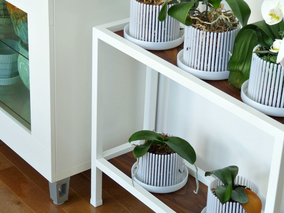 Modern White Orchid Planter