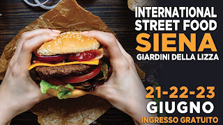 Flyer of the street food fair in Siena