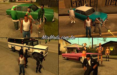 gta sa mod cleo call recuits gangs cops chamar ligar gangue reforço
