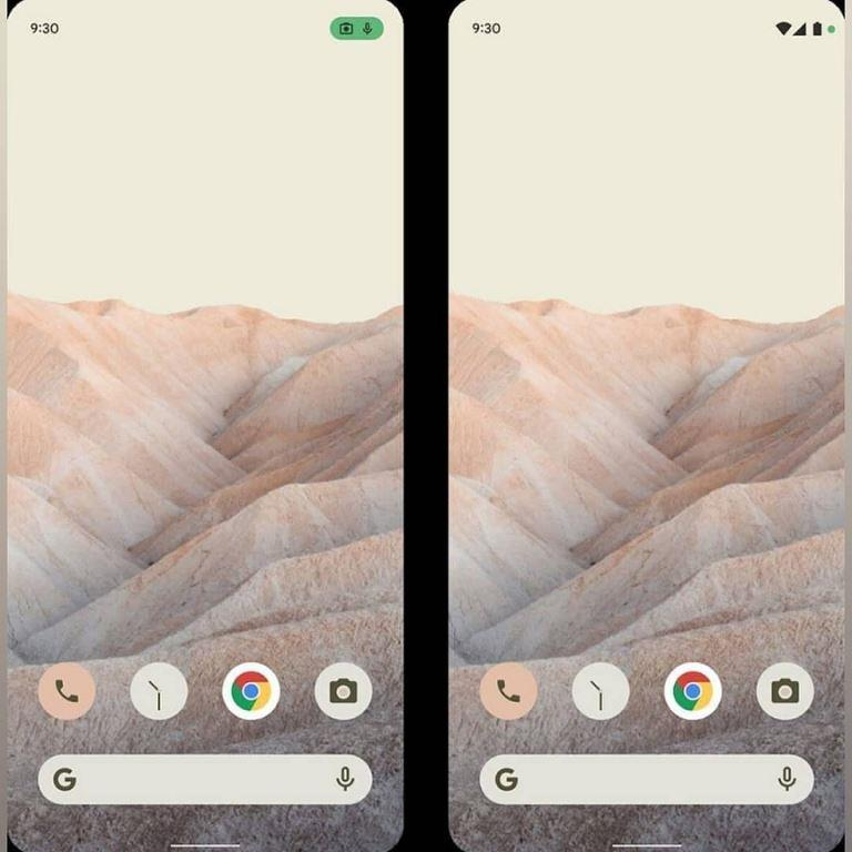 Google's Android 12 OS Home Screen