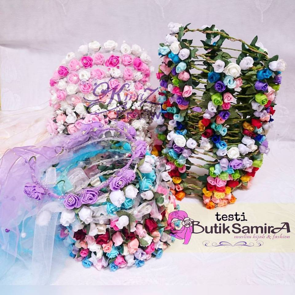Jual flower crown mahkota bunga bridal shower wedding premium handmade izmirmasajfo Image collections