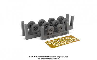 1/144 B-36 Peacemaker wheels w/ weighted tires