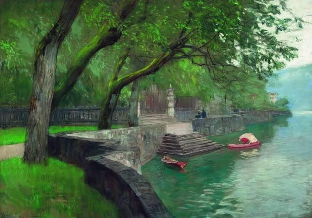 Исаак Ильич Левитан - На озере Комо. Набережная. 1894