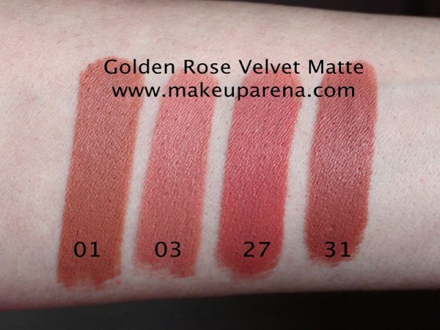 Bakım Ve ötesi Golden Rose Velvet Matte Nude Rujlar 27 01 03