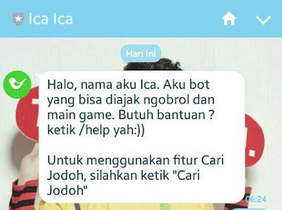 Cara Mencari Jodoh Di OA ( Official Account ) Ica Ica LINE