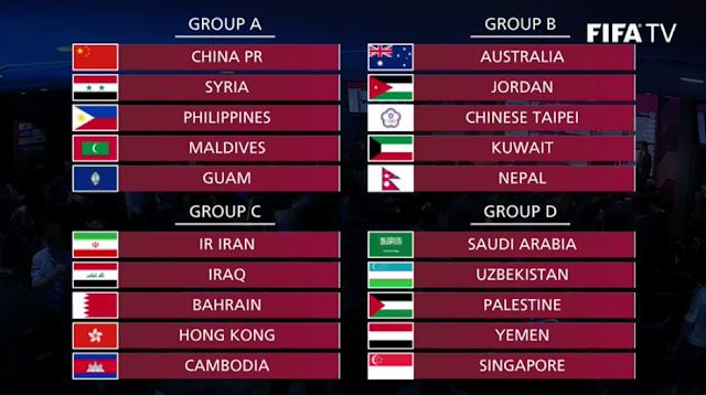 موعد مباريات تصفيات اسيا اليوم 15-10-2019 المؤهلة لكاس العالم 2022