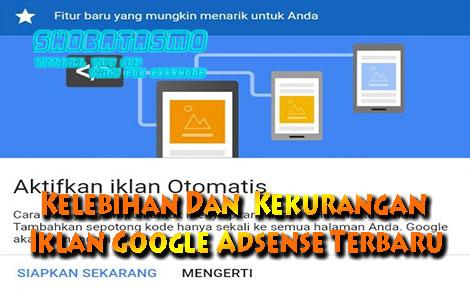 Kelebihan Dan  Kekurangan Iklan Google Adsense Terbaru