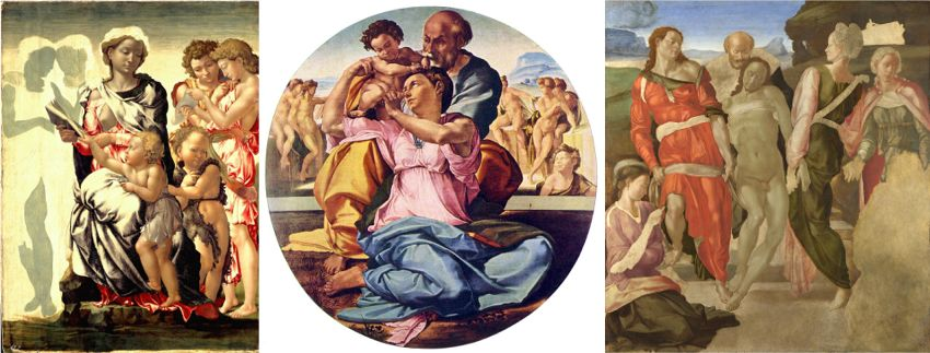 La Madonna di Manchester, il Tondo Doni e il Seppellimento di Cristo - Michelangelo