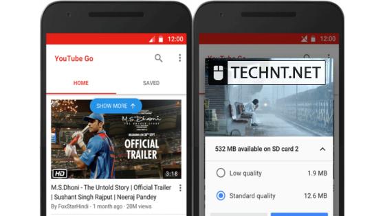 """تطبيق """"Youtube Go"""" لتقليل إستهلاك بيانات الأنترنت وحفظ الفيديو على الجوال - التقنية نت - technt.net"""