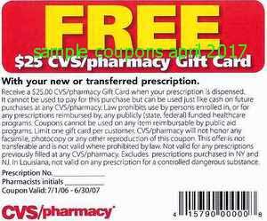 free Cvs Pharmacy coupons april 2017