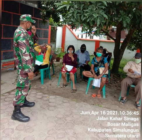 Dalam Rangka Penerimaan BST Diwilayah, Personel Jajaran kodim 0207/Simalungun Turut Amankan