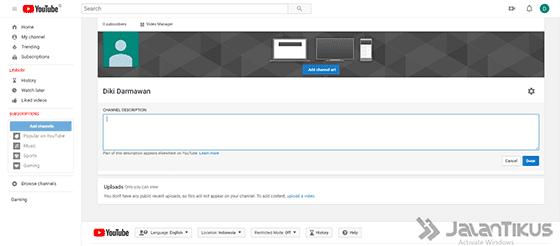Cara Mudah Membuat Channel Youtube, Bisa Bikin Kaya!