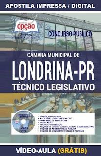 apostila Câmara de Londrina 2016 Técnico Legislativo