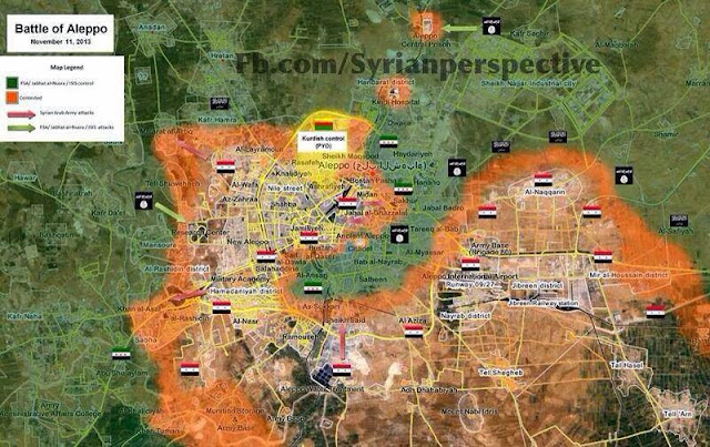Updated Map of Aleppo After the Victories in Tal Hassel, Tal Arn, and Naqqarin. 1