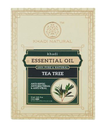 KHADI NATURAL Teatree Pure Essential Oil Latest International Packaging (15ml)