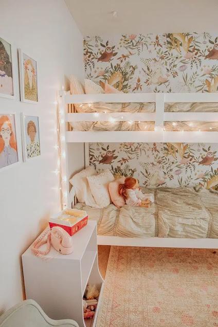 ديكورات غرف نوم اطفال سريرين فوق بعض
