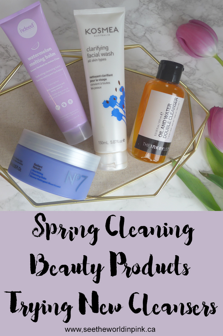 Spring Cleaning with New (To Me) Cleansers - Indeed Labs, NO7, Kosmea, and The Inkey List!
