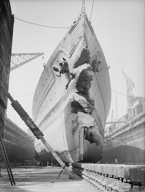 HMS King George V in drydock, 17 May 1942 worldwartwo.filminspector.com