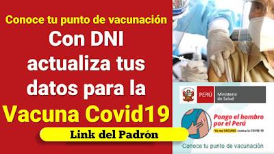 Vacuna COVID-19 LINK PADRÓN así puedes consultar la lista de vacunacion