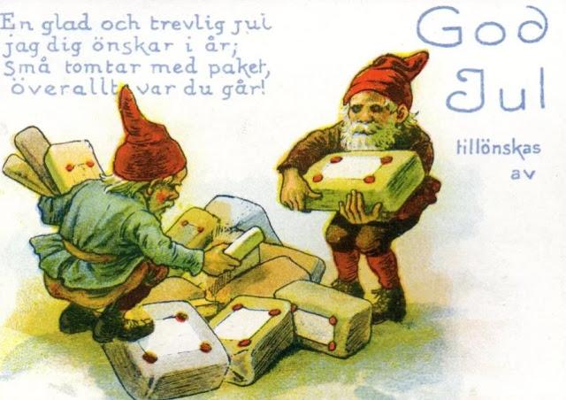 god jul vintage bilder