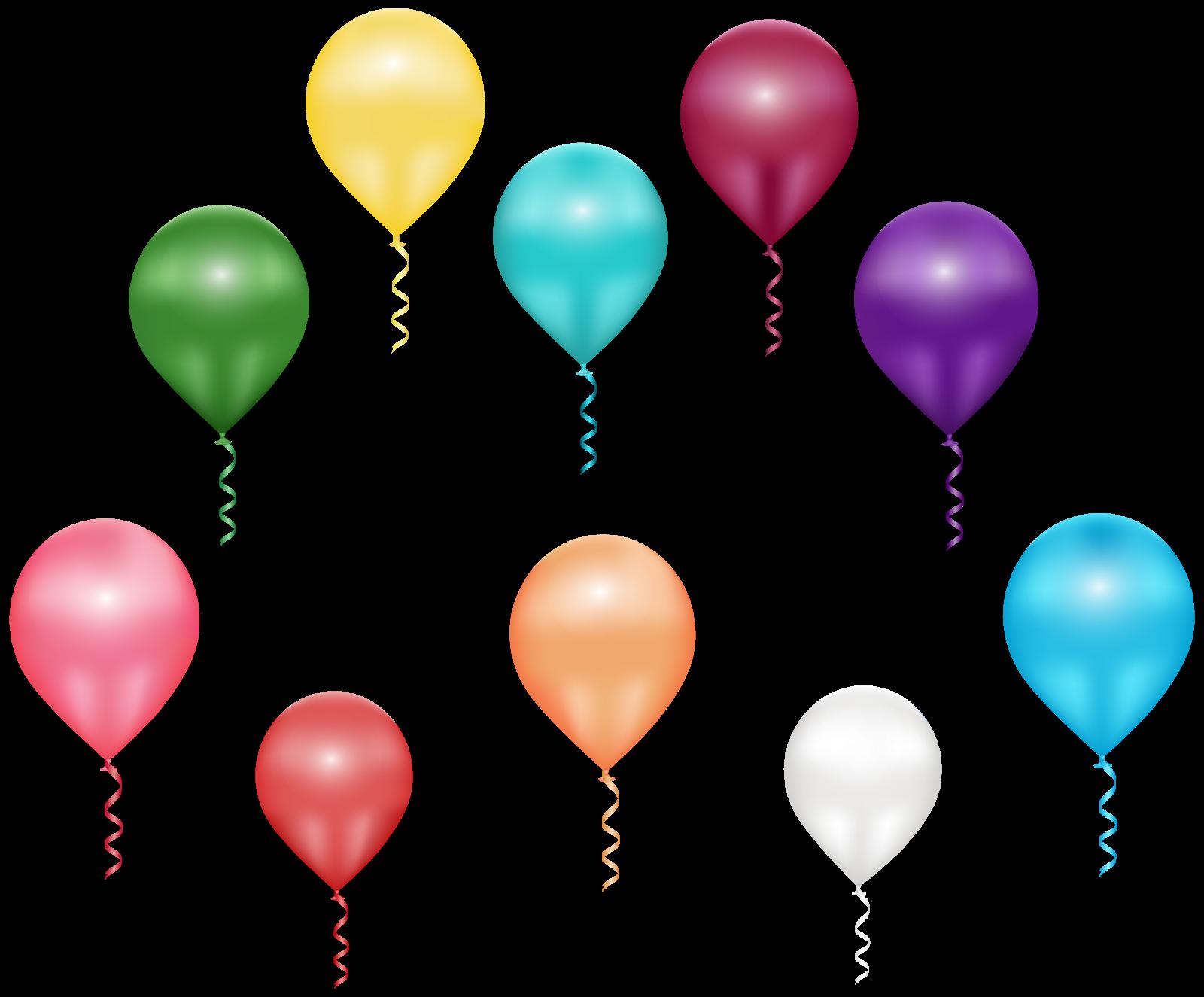 Картинки воздушные шарики красивые на прозрачном фоне