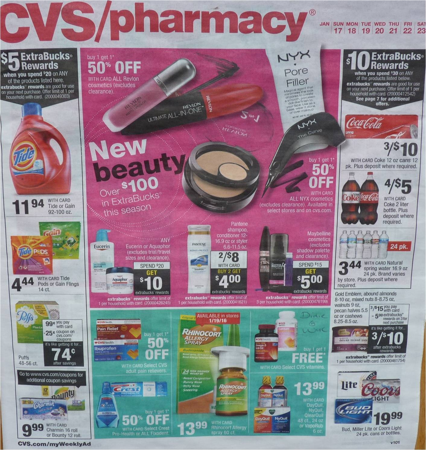 Cvs Ad Scan Preview For The Week Of 1 17 16