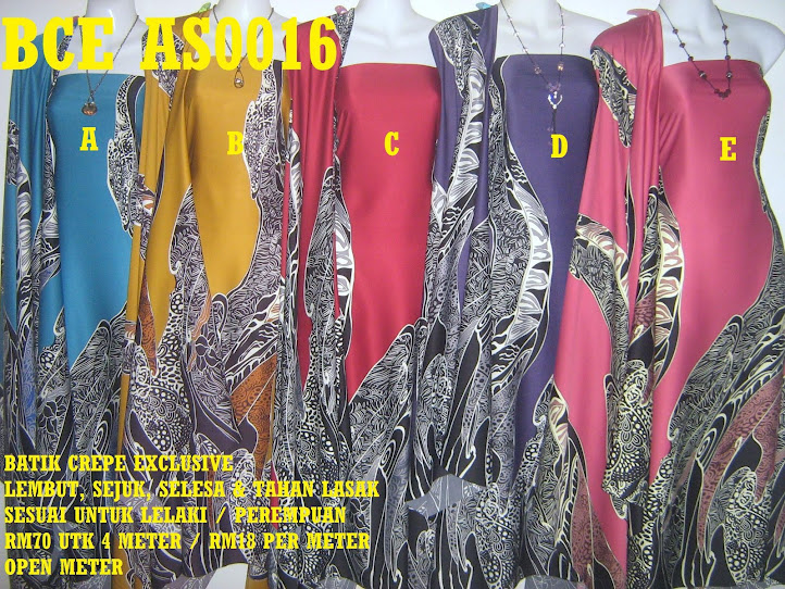 BCE AS0016: BATIK CREPE EXCLUSIVE ,  4 METER