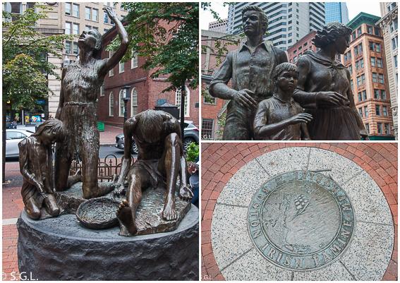 Monumento a la hambruna irlandesa Boston - freedom trial