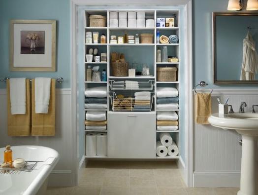 CREATIVE TIPS FOR AN ORGANIZED BATHROOM