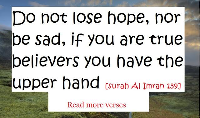 Surah Al Imran verse number 139