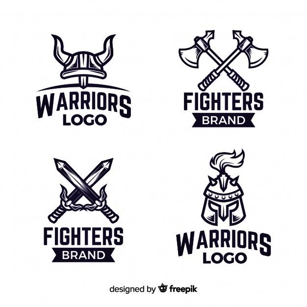 Template Mentahan Logo Esport Polos Simple Warrior