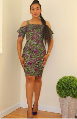 Obi Sky Ankara short gown dresses