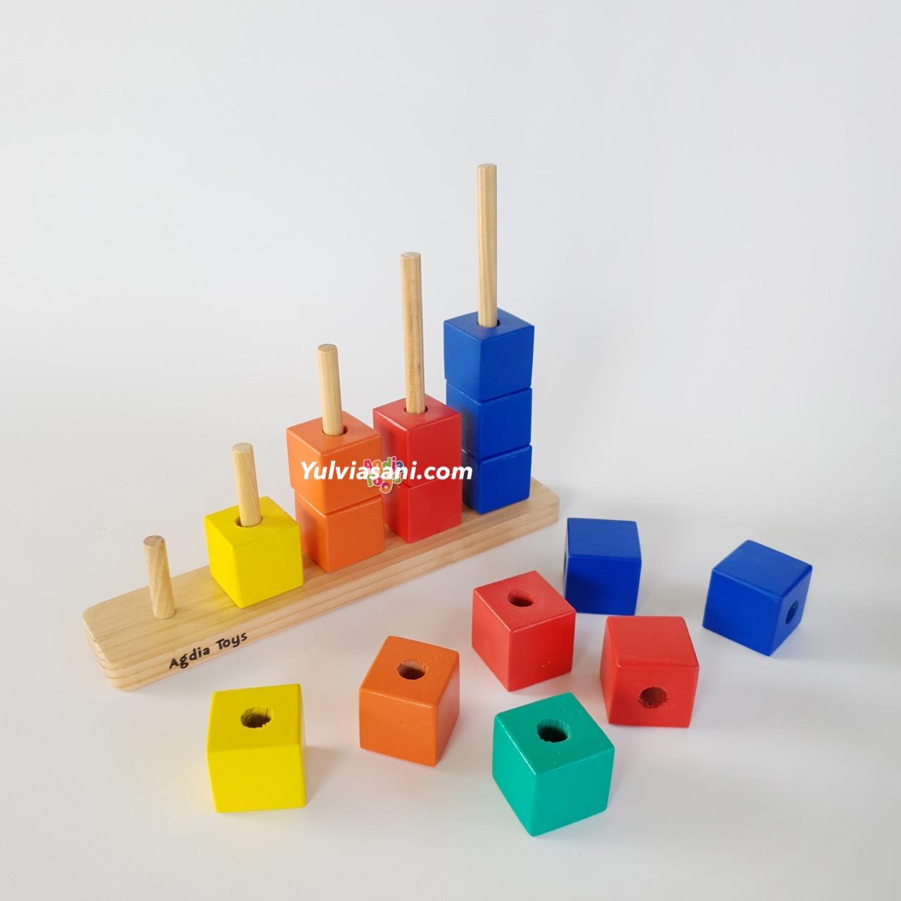 Mainan Kayu Tangga Balok
