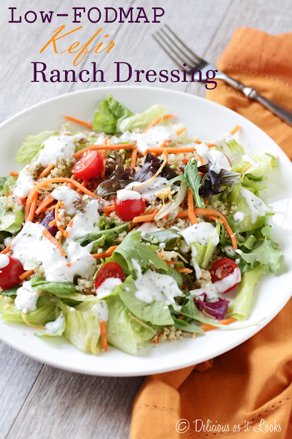 Low-FODMAP Kefir Ranch Dressing  /  Delicious as it Looks