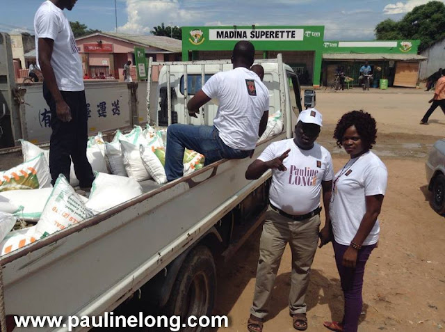 Pauline Long Donates food to Malawi