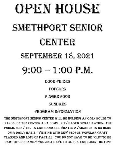 9-18 Smethport Senior Center Open House