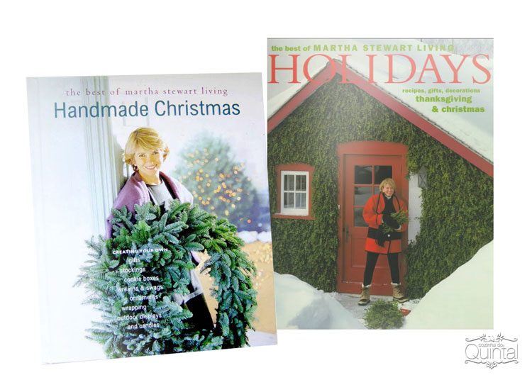 Os livros da Martha Stewart são uma grande fonte de inspiração, para receitas e decoração. Eu adoro =)