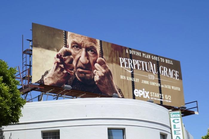 Ben Kingsley Perpetual Grace Ltd billboard