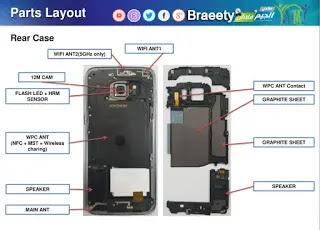 Samsung mobile diagram smart phone pcb repairing