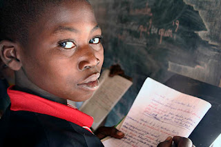 Primary school student in Botswana Africa.