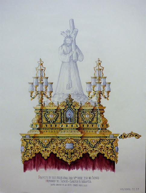El paso del Nazareno de Sanlúcar de Barrameda presenta su nuevo palio creado en Sevilla