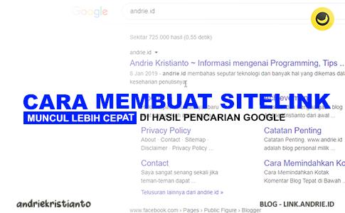 Trik Cara Buat Sitelink Blog Muncul Lebih Cepat di Hasil Pencarian Google
