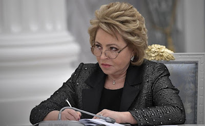 Speaker of the Federation Council Valentina Matviyenko at the meeting of Council for Strategic Development and Priority Projects.