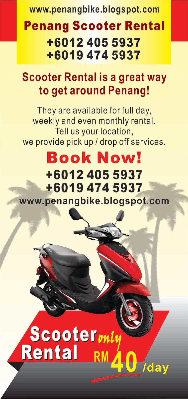 Penang Motor Rental Sewa Motor Motorbike Motorcycle Bike