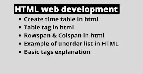 create time table in html code
