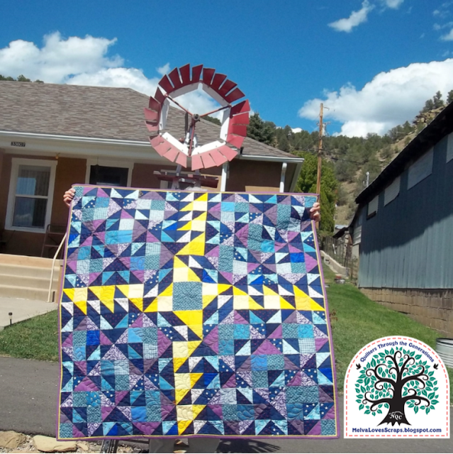 Scrappy version | Double Windmill Quilt pattern
