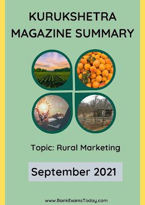 Kurukshetra Magazine Summary: September 2021