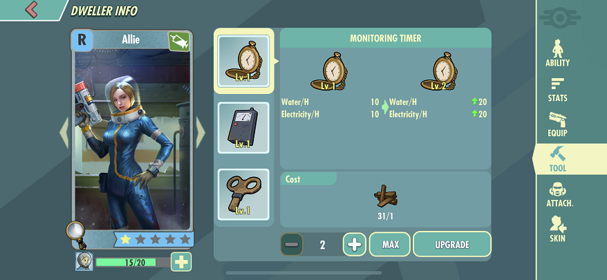 Fallout Shelter Online upgrade heroes