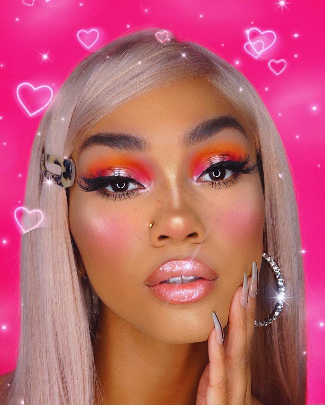 Maquiagem sombra neon laranja