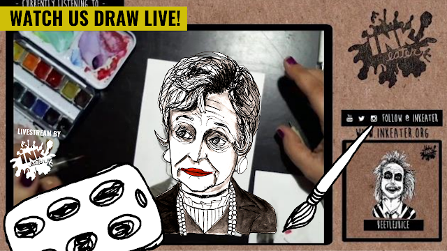Watch Us Draw Juno from Beetlejuice! - Come Hang out!